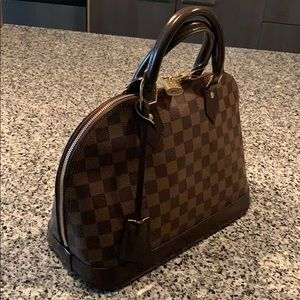 LOUIS VUITTON Alma PM Damier Ebene handbag